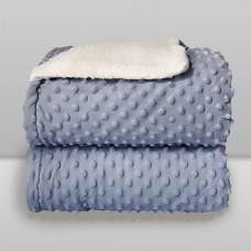 Cobertor Sherpam Dots Azul - Laço Bebê