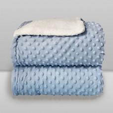 Cobertor Sherpam Dots Azul Bebê - Laço Bebê