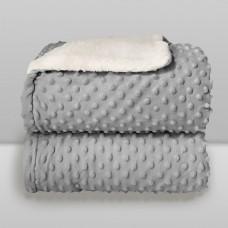Cobertor Sherpam Dots Cinza Glacial - Laço Bebê
