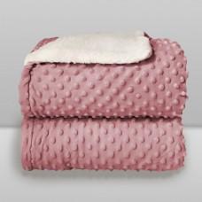 Cobertor Sherpam Dots Rosa - Laço Bebê