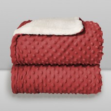 Cobertor Sherpam Dots Vermelho - Laço Bebê