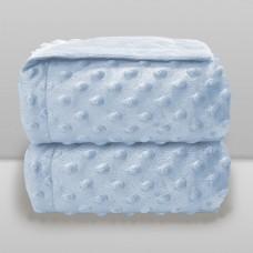 Cobertor Dots Liso Azul Bebê - Laço Bebê