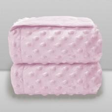 Cobertor Dots Liso Rosa Bebê - Laço Bebê