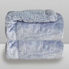Cobertor Ferrete Azul Cash - Laço Bebê