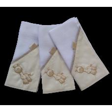 Kit c/ 03 Fraldas de Boca - Girafinha Bege - VagaLume Baby