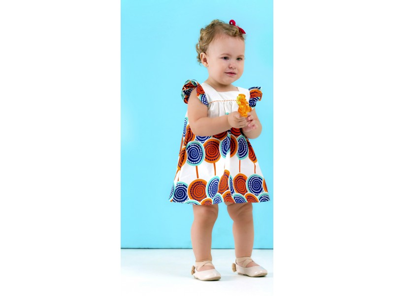 Vestido Pirulitos - Pala Quadrada - Precoce