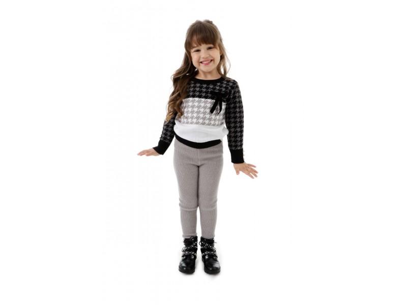 Calça Ana Kids - Cinza - Mini Lady