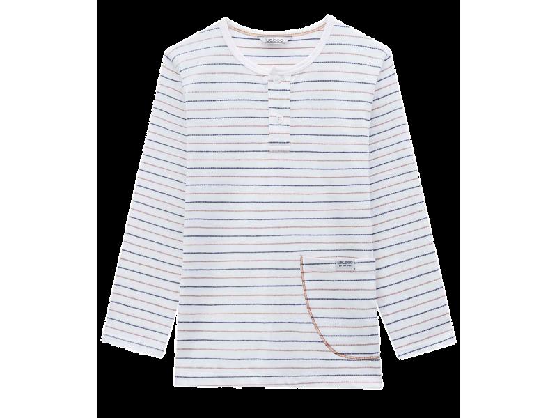 Camiseta Manga Longa Off Listras - LucBoo