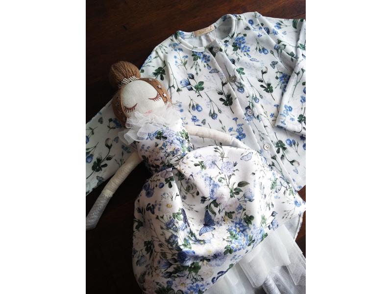 Cardigan Blue Romantic - Petit Cherie