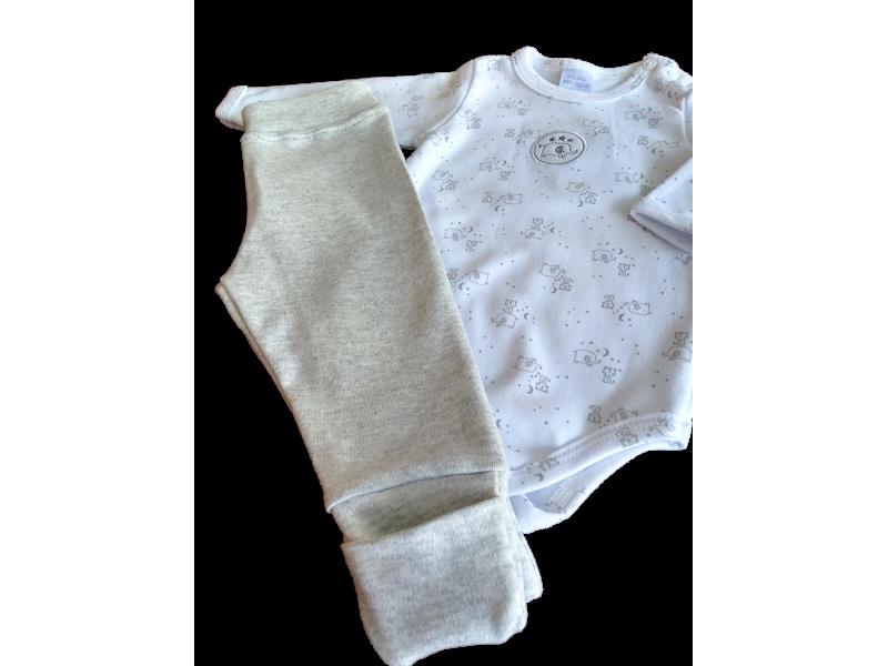 Conjunto Elefante e Tigre - Body e Calça - Proteção Solar Uv50 - PiuPiu