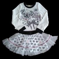 Conjunto Blusa e Saia - Fashion Pug - Petit Cherie