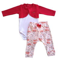 Conjunto Body e Calça - Gatinha - proteção solar uv50 - Mini Bear