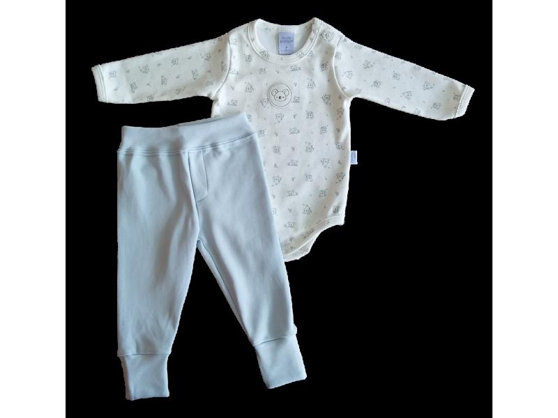 Conjunto Koala Azul - Body e Calça - Proteção Solar Uv50 - PiuPiu