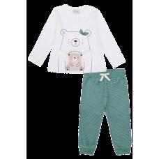 Conjunto Urso Verde - Kukiê