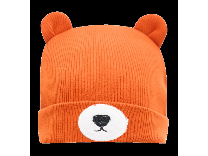 Gorro em Malha Canelada - Urso Ferrugem - LucBoo