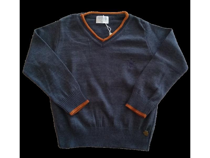 Suéter decote V - João Blue - Mini Lord
