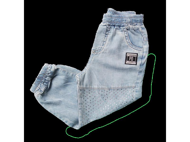 Calça Jogger Jeans - Azul Claro - Petit Cherie
