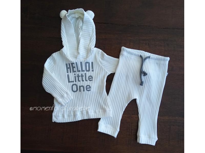 Conjunto Little One - Malha Canelada Off - LucBoo