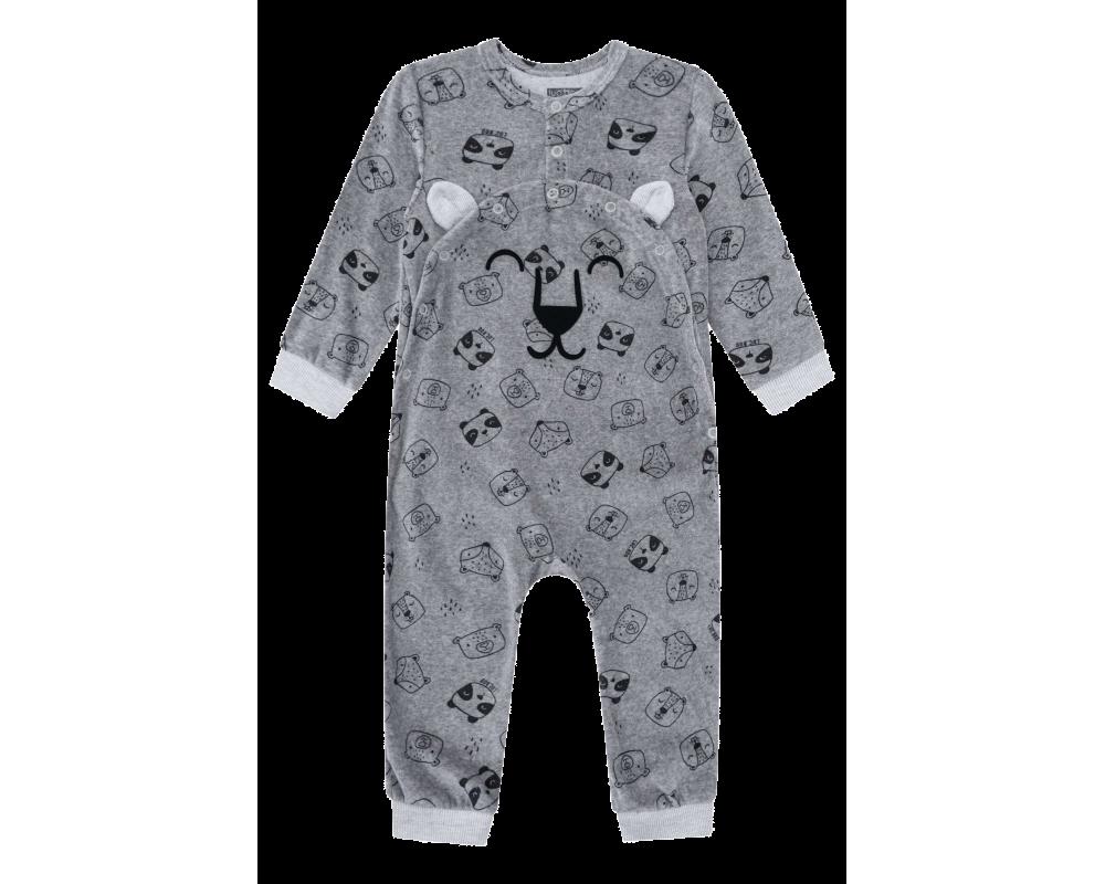 Macacão Plush Tigrinho Mescla - LucBoo
