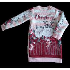 Vestido Manga Longa Charming Roses - Petit Cherie
