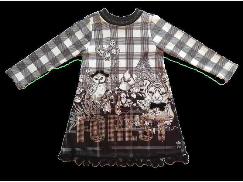 Vestido Preto e Branco Forest - Petit Cherie