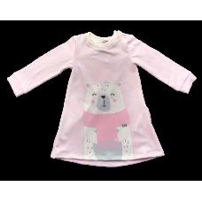 Vestido Manga Longa Urso - Kukiê