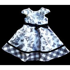 Vestido Florest Preto e Branco - Petit Cherie