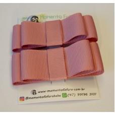 Laço Chanel Rosé - Par
