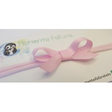Laço Mini Clássico com Pontas Rosa Ternura - Faixa