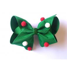 Laço Boutique com Pompom - Verde - Presilha