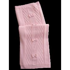 Manta Tricot Aran 3 Laços - Rosa - Petit Mouton