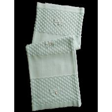 Manta Tricot Escama - Verde Pó - Petit Mouton
