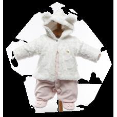 Macacão Casaco de Pele Branco Laís - Beth Bebê