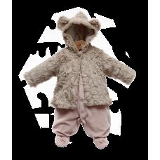 Macacão Casaco de Pele Nude Laís - Beth Bebê