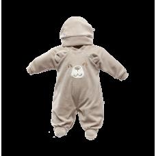 Macacão e Touca Urso Cáqui - Beth Bebê