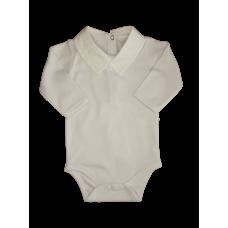 Body Menino Gola Bordada Branco - Beth Bebê
