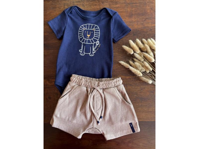 Body Leão Azul Marinho - LucBoo