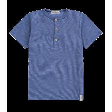 Camiseta Malha Mesclada - Azul - LucBoo