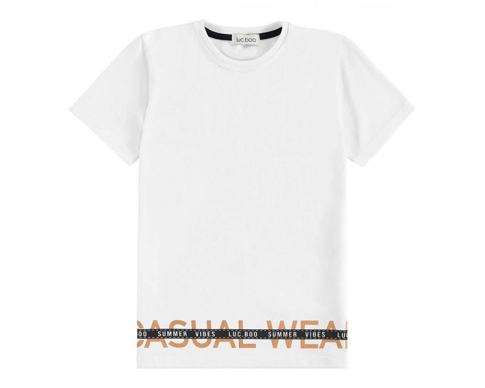 Camiseta Casual Wear Branco - LucBoo