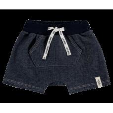 Short Saruel Malha Denim - Jeans Escuro - LucBoo