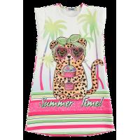 Vestido Summer Time Onça - Kukiê