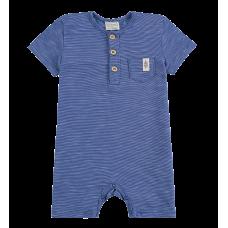 Macacão Malha Mesclada Azul Jeans - Lucboo