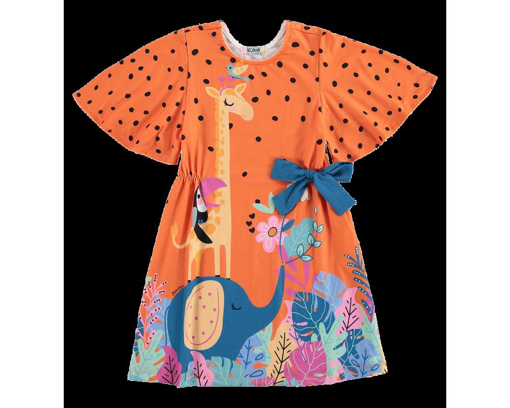 Vestido Selva Laranja - Kukiê
