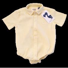 Body Camisa Linho Amarelo - Dudes