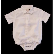 Body Camisa Linho Branco - Dudes