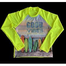 Camiseta Proteção Skate Amarelo Shock - Cia do Broto