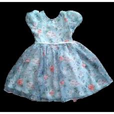 Vestido Jardim Azul - Petit Cherie