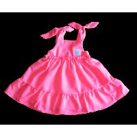 Vestido Jardim Tropical Rosa Neon - Mon Sucré