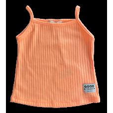 Blusa Canelada Alcinha Laranja Neon - Petit Cherie