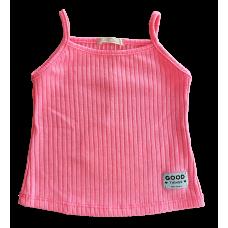 Blusa Canelada Alcinha Rosa Neon - Petit Cherie